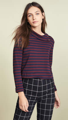 Petit Bateau 1x1 Striped Turtleneck