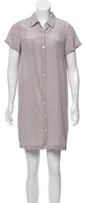 Steven Alan Silk Printed Shirt Dress