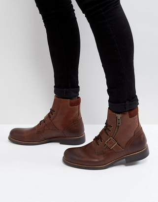Aldo Walden Lace Up Boots In Brown