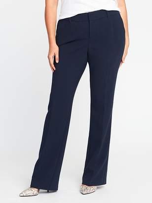 Old Navy Mid-Rise Secret-Slim Plus-Size Double-Weave Harper Trousers
