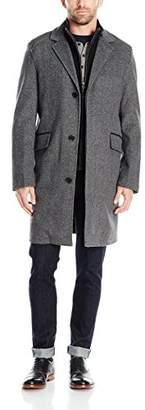Cole Haan Men's Brushed Wool Herringbone Topper Knit Bib Front