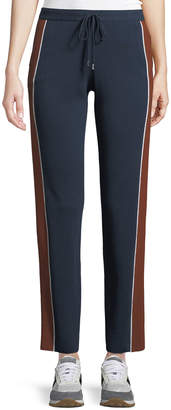Loro Piana Drawstring High-Rise Tapered-Leg Athletic Pants