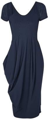 High Volta Pinstriped Jersey Dress