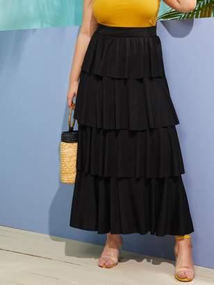 Shein Plus Layered Flounce Skirt