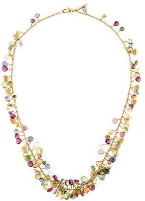 Marco Bicego 18K Diamond & Multicolor Stone Necklace $2,795 thestylecure.com
