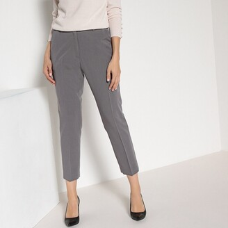 ed2fcc2d2 Anne Weyburn Straight Ankle Grazer Trousers in Comfortable Stretch Fabric,  Length 26.5