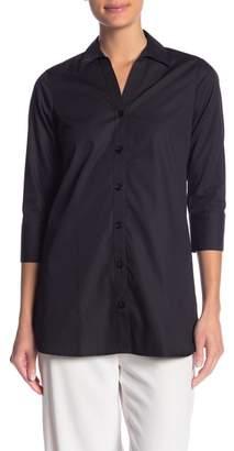 Foxcroft Rose 3\u002F4 Sleeve Solid Tunic