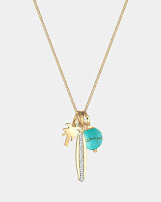 Swarovski Necklace Palm Crystals 925 Silver Gold Plated