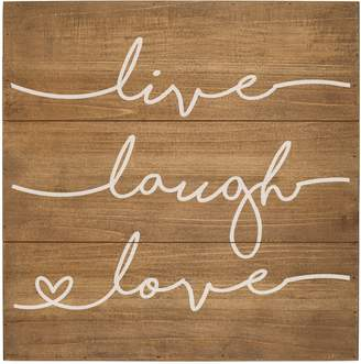 Cathy's Concepts Live Laugh Love Rustic Wood Sign