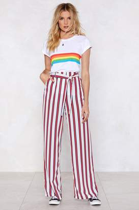 Nasty Gal Later Down the Line Wide-Leg Pants