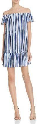 AQUA Waterworks Off-The-Shoulder Dress - 100% Exclusive $98 thestylecure.com