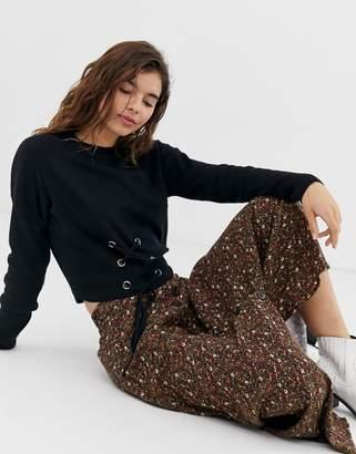 New Look Black Corset Sweater
