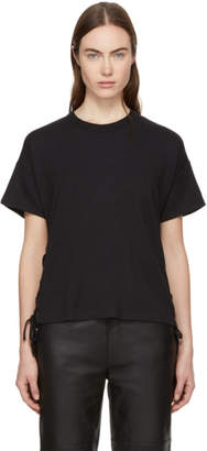 Rag and Bone Black Lace-Up T-Shirt