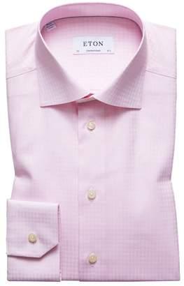 Eton Contemporary Fit Pattern Dress Shirt