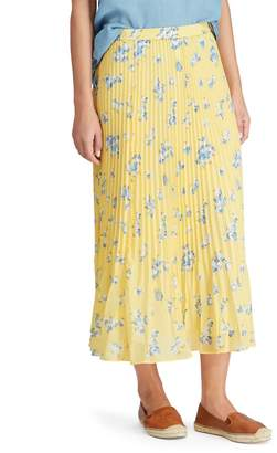 Chaps Petite Pleated Georgette A-Line Skirt
