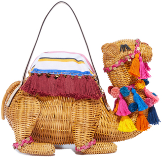 Kate Spade New York Wicker Camel Bag $498 thestylecure.com
