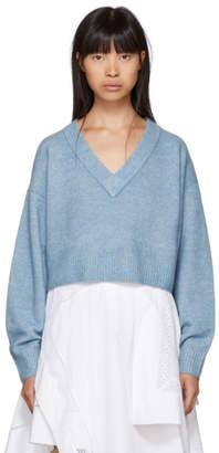 3.1 Phillip Lim Blue Lofty V-Neck Sweater