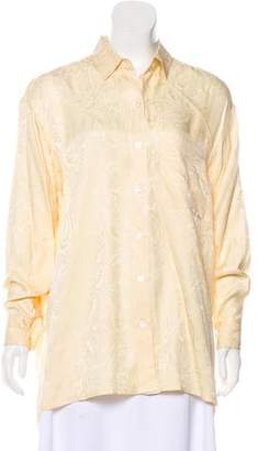 DKNY Silk Button-Up Top