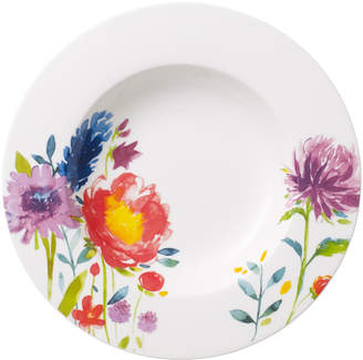 Villeroy & Boch Anmut Flowers Soup Bowl 9 1/2 in