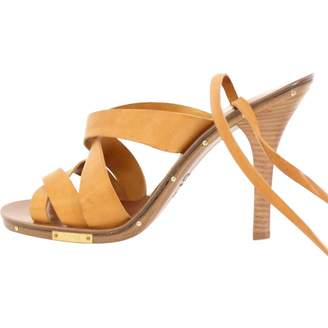 Chloé Camel Leather Sandals