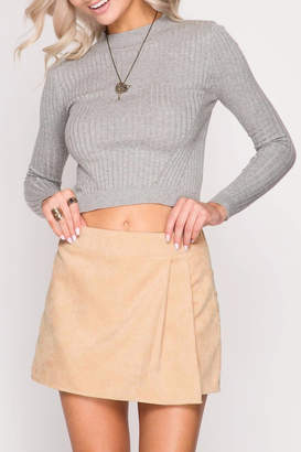 She + Sky Corduroy Wrap Skirt