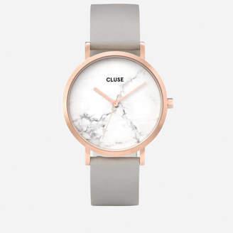 Cluse Women's La Roche Marble Leather Watch - Grey