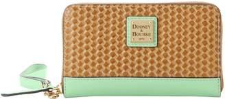 Dooney & Bourke Beacon Woven Zip Around Phone Wristlet