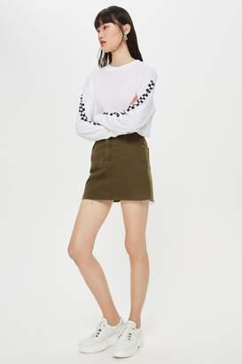 Topshop Khaki Denim Skirt