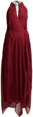 Roland Mouret Risby halterneck silk-crepe dress
