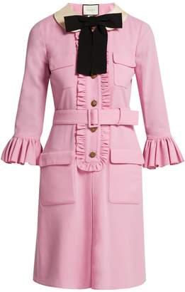 Gucci Ruffle-trimmed wool dress