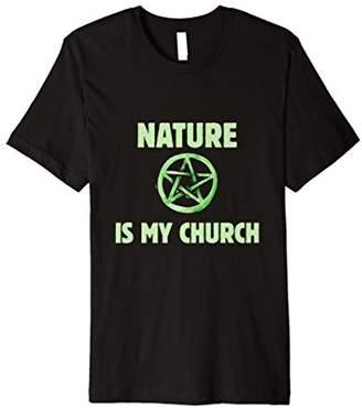 Church's Nature is my t-shirt Wiccan Pagan Pentagram tee shirt