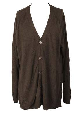 Weatherproof Mens Marled Button Front Cardigan Sweater Brown XL