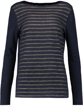 Petit Bateau Striped Linen-Jersey T-Shirt $129 thestylecure.com