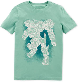 Carter's Little & Big Boys Robot-Print Cotton T-Shirt