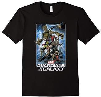Marvel Guardians of the Galaxy Group Poster Graphic T-Shirt