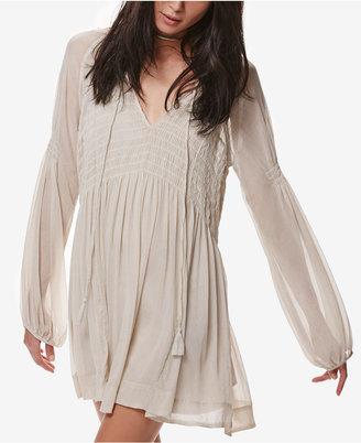 Free People Lini Smocked Mini Dress $128 thestylecure.com