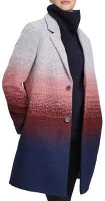 Andrew Marc Belair Ombre Wool-Blend Coat