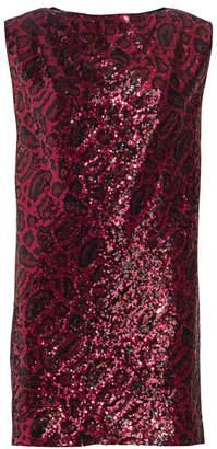 RtA Stevie Sleeveless Sequin Shift Dress
