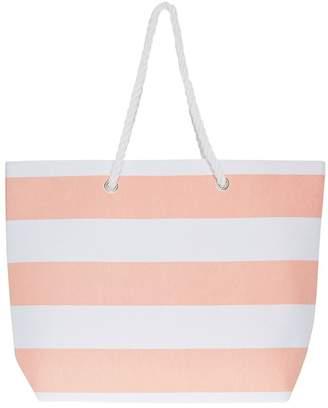 57fc41665 South Beach Womens Striped Beach Bag - Pink