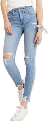 Madewell Curvy High Waist Distressed Hem Skinny Jeans