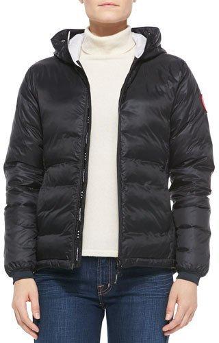 Canada Goose Camp Hooded Puffer Coat, Black