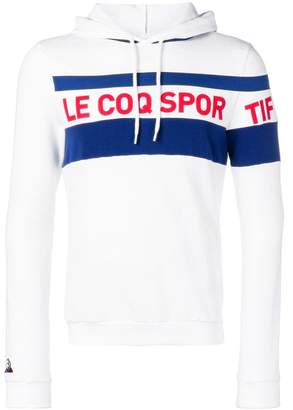 Le Coq Sportif logo print hoodie