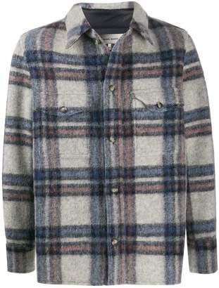 Isabel Marant plaid-patterned shirt jacket