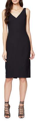 Rachel Roy Back-Slit Solid Dress