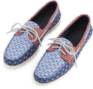 Vineyard Vines Mens Sperry x Americana Patchwork Authentic Original Boat Shoe