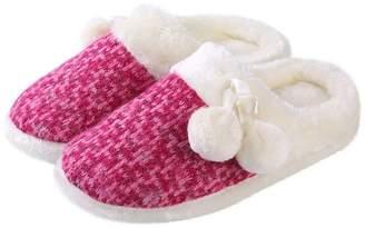 Aerusi Women's Pearly Pom Slipper Magenta Pink Size 10