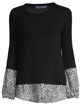 Bailey 44 Mixed Media Twofer Shirt Sweater