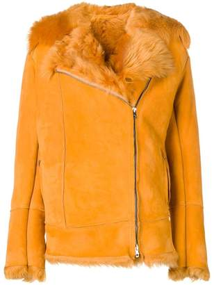 Salvatore Santoro rabbit fur trim jacket
