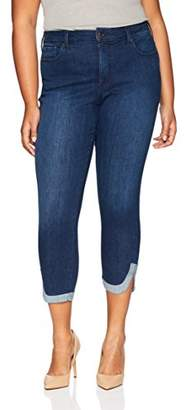 NYDJ Women's Plus Size Ami Skinny Ankle with Dolphin Hem Jean
