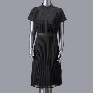 Vera Wang Women's Simply Vera Pleated Mixed Media Dress